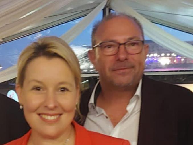 Bodo Pfalzgraf mit der SPD-Chefin Franziska Giffey